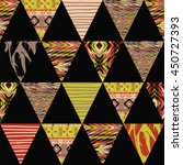 tribal ethnic seamless pattern... | Shutterstock .eps vector #450727393