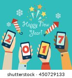 xmas and new year holidays... | Shutterstock .eps vector #450729133