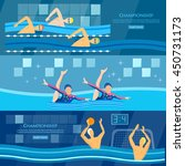 sport swimming water polo... | Shutterstock .eps vector #450731173