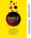 vertical yellow music party... | Shutterstock .eps vector #450761257