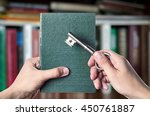 the book is the key to success  ... | Shutterstock . vector #450761887