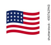 Coloured Usa Flag. Vector...