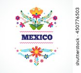 mexican pattern  beautiful...   Shutterstock .eps vector #450776503