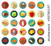 food and drinks icons set.... | Shutterstock .eps vector #450783157