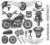 Motorcycle Black Isolated Icon...