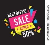 sale banner template. best... | Shutterstock .eps vector #450803107