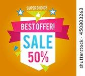 sale banner template. best... | Shutterstock .eps vector #450803263