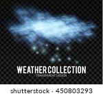 cloud and snow. winter space.... | Shutterstock .eps vector #450803293