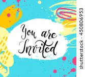 you are invited to the party ... | Shutterstock .eps vector #450806953