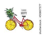 poster design. retro bicycle... | Shutterstock .eps vector #450807577