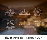 asian fashion shops logo... | Shutterstock .eps vector #450814027