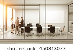 side view of conference room... | Shutterstock . vector #450818077