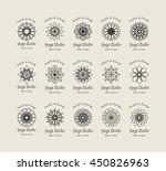 yoga ornamental emblem set.... | Shutterstock .eps vector #450826963