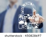 concept about security of... | Shutterstock . vector #450828697