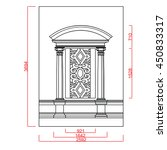 window vector line work with... | Shutterstock .eps vector #450833317