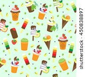texture of ice cream | Shutterstock .eps vector #450838897