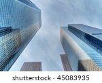 modern skyscrapers soaring in... | Shutterstock . vector #45083935