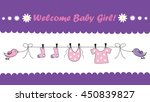 welcome baby girl | Shutterstock .eps vector #450839827