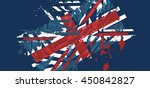 vector abstract background with ... | Shutterstock .eps vector #450842827