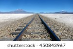Parallel Train Tracks Set In A...