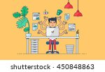 workspace of professional...   Shutterstock .eps vector #450848863