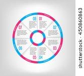 infographic circle banner....   Shutterstock .eps vector #450860863
