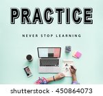 skills practice learning study... | Shutterstock . vector #450864073