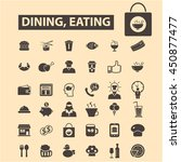 dining eating icons | Shutterstock .eps vector #450877477