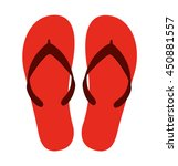 Flip Flops Isolated Icon Desig...