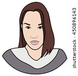 icon. face of beautiful girl... | Shutterstock .eps vector #450896143