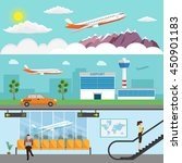 airport passenger terminal and... | Shutterstock .eps vector #450901183