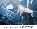double exposure of professional ...   Shutterstock . vector #450907603