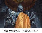 shiva statue in angkor wat... | Shutterstock . vector #450907807