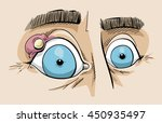 cartoon of a close up of a stye ... | Shutterstock .eps vector #450935497