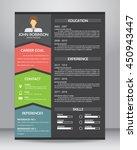 job resume or cv. layout... | Shutterstock .eps vector #450943447