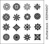 set of graphic flowers.vector... | Shutterstock .eps vector #450944047