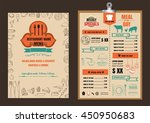 restaurant food menu design... | Shutterstock .eps vector #450950683