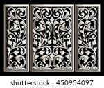 vector vintage border frame... | Shutterstock .eps vector #450954097
