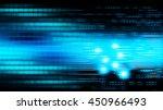 dark blue cyber light abstract... | Shutterstock . vector #450966493
