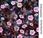 Floral Seamless Pattern. Five...