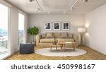 interior with sofa. 3d... | Shutterstock . vector #450998167