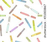 colorful p felt tip pen  ... | Shutterstock .eps vector #451003867
