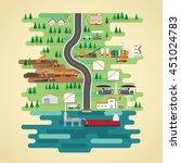 shale oil energy in flat design  | Shutterstock .eps vector #451024783
