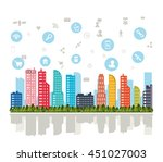 technology and internet concept ... | Shutterstock .eps vector #451027003