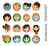kids avatar collection. pupils... | Shutterstock .eps vector #451031527
