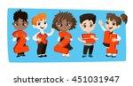 back to school vector... | Shutterstock .eps vector #451031947