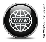 website button isolated on... | Shutterstock . vector #451033987