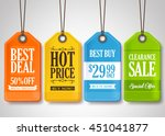 sale tags design collection... | Shutterstock .eps vector #451041877