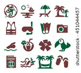 hawaii icon set | Shutterstock .eps vector #451044457