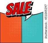 sale comic speech . bubble...   Shutterstock .eps vector #451045297